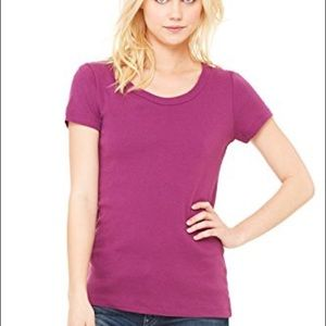 ZARA Yoga Comfy Tee! Wine colored with great fit!